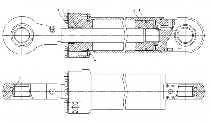 Схема ремонта гидроцилиндра