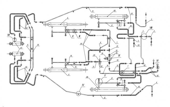 Гидросистема 702ЕА(4)