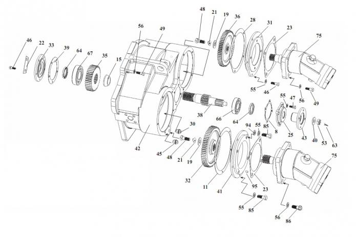 Редуктор отбора мощности 332В, В4,С4-02(1)