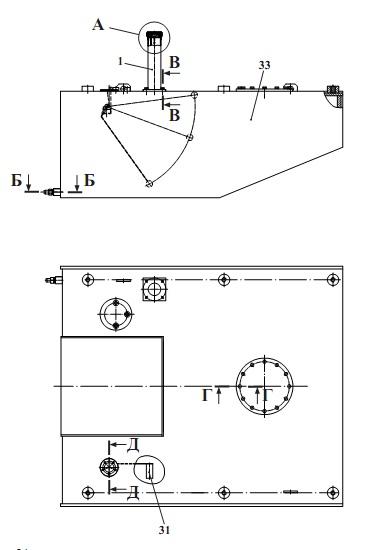 Бак топливный МТЗ левый с горловиной 70-1101020 МТЗ