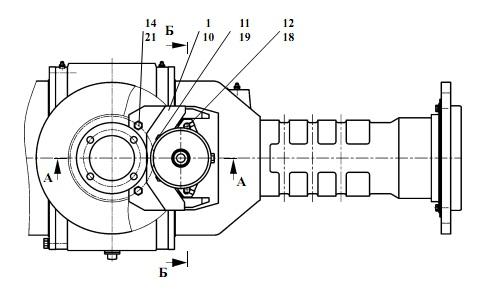 """Запчасти для Амкодор 451А в узле  """"Установка стояночного тормоза """" в разрезе схемы 8-508."""